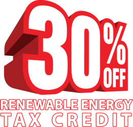 thirty percent off renewawable energy tax credit ecs geothermal