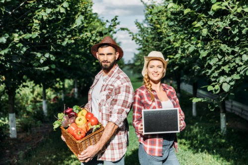 couple gardening in kansas city