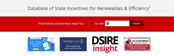 DSIRE local incentives search engine