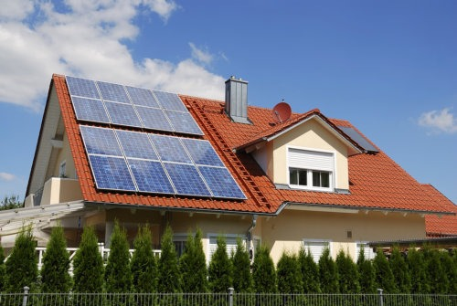 home with solar energy