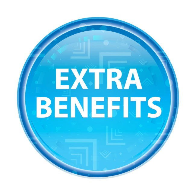 extra benefits button