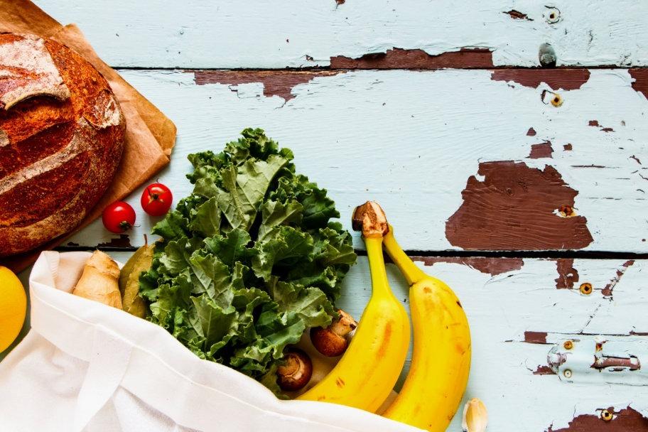 organic food on table