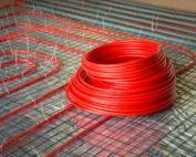 Radiant floor heating tubes